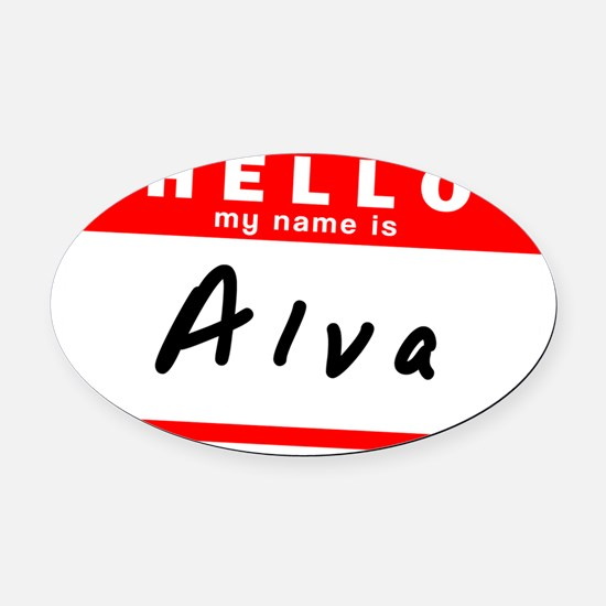 Alva Oval Car Magnet