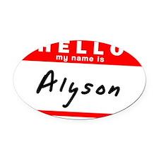 Alyson Oval Car Magnet