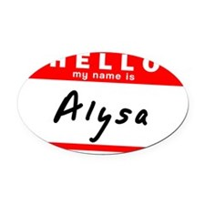 Alysa Oval Car Magnet