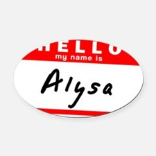 Alysa Oval Car Magnet