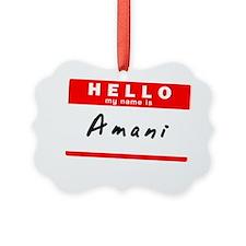 Amani Ornament