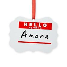 Amara Picture Ornament