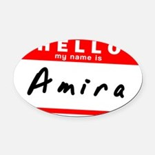 Amira Oval Car Magnet