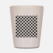 black checkered board Shot Glass