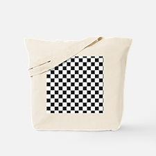 black checkered board Tote Bag