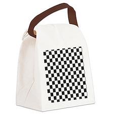 black checkered board Canvas Lunch Bag