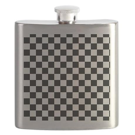 black checkered board Flask