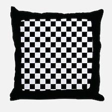 black checkered board Throw Pillow