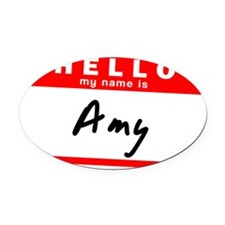 Amy Oval Car Magnet