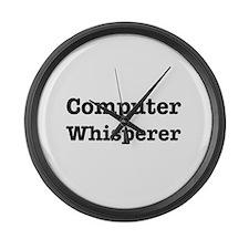 Computer Whisperer Large Wall Clock
