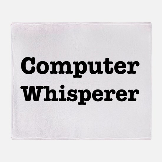 Computer Whisperer Throw Blanket