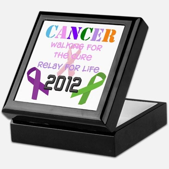 Walking for the Cure-2012 Keepsake Box