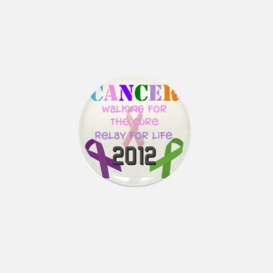 Walking for the Cure-2012 Mini Button