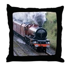 Passenger train , Culgaith , England Throw Pillow