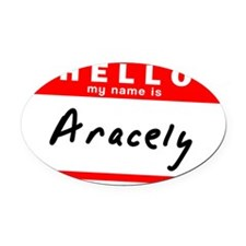 Aracely Oval Car Magnet