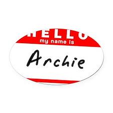 Archie Oval Car Magnet