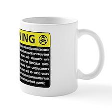 Rover Warning Sticker Mug