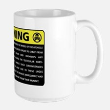 Rover Warning Sticker Large Mug