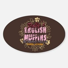 English Muffins Oval Decal