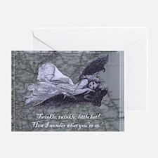 newcard 118 twinkle batdarker Greeting Card