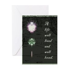 new life lived and loved Greeting Card
