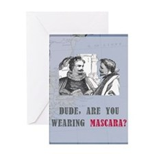 newcard 130 dude mascara Greeting Card