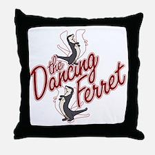 The Dancing Ferret (dark) Throw Pillow