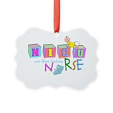 Nicu Nurse BABY BLOCKS Ornament