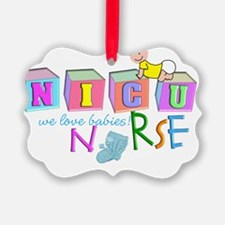 Nicu Nurse BABY BLOCKS Ornament