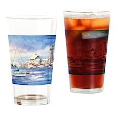 1ScituateHarborWSigCARD Drinking Glass