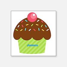 "Cupcake4name Square Sticker 3"" x 3"""