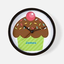Cupcake4name Wall Clock
