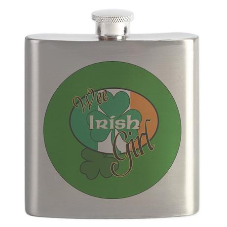 WEE-IRISH-GIRL-BUTTON Flask