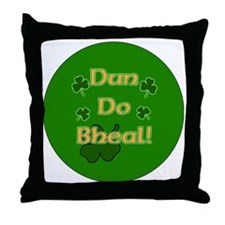 SHUT-YOUR-MOUTH-BUTTON Throw Pillow