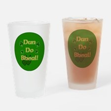 SHUT-YOUR-MOUTH-BUTTON Drinking Glass