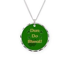 SHUT-YOUR-MOUTH-BUTTON Necklace Circle Charm