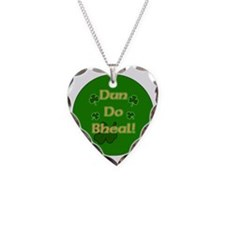 SHUT-YOUR-MOUTH-BUTTON Necklace Heart Charm