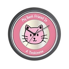 Friend Tonkinese Wall Clock