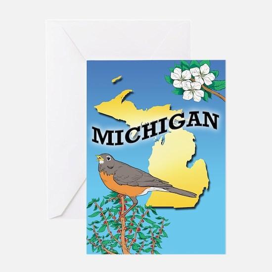MICHIGAN-iPad2 case Greeting Card
