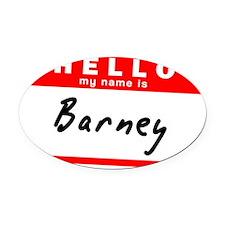Barney Oval Car Magnet