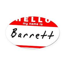 Barrett Oval Car Magnet