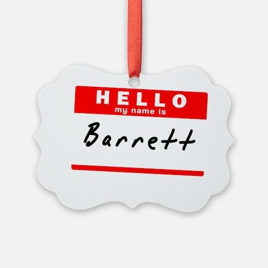 Barrett Ornament