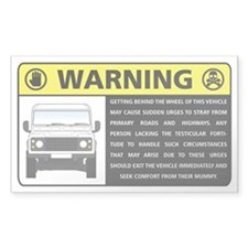 Rover Occupant Advisory Decal Decal