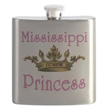 Mississippi Princess with Tiara Flask