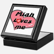 miah loves me Keepsake Box