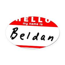Beldan Oval Car Magnet