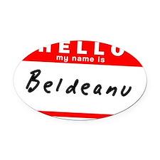 Beldeanu Oval Car Magnet