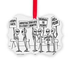 Protestors Picture Ornament