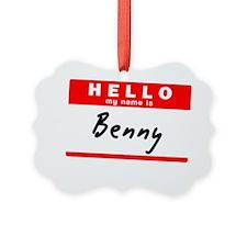 Benny Ornament