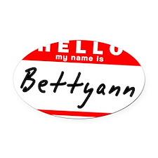 Bettyann Oval Car Magnet